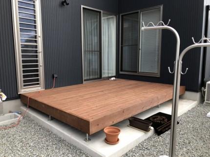 オシャレなウッドデッキが完成しました。田村市船引町| 郡山市 新築住宅 大原工務店のブログ