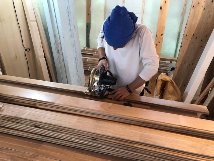 無垢の床板張りです。|郡山市 新築住宅 大原工務店のブログ