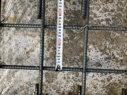 スラブの配筋のピッチの確認です 郡山市富久山町 |郡山市 新築住宅 大原工務店のブログ