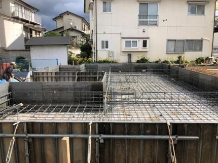 新築べた基礎の鉄筋検査完了です。|郡山市 新築住宅 大原工務店のブログ