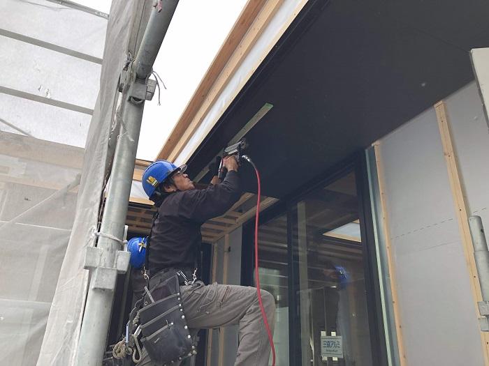 軒天の施工をしています 二本松市 |郡山市 新築住宅 大原工務店のブログ