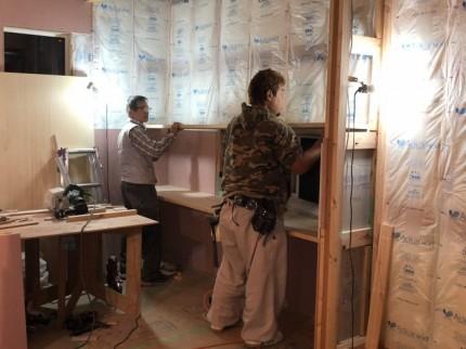 スタディーコーナーのカウンター造作中です。郡山市昭和| 郡山市 新築住宅 大原工務店のブログ