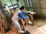 廻り階段を造っています。|郡山市 新築住宅 大原工務店のブログ