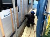 外壁工事の始まりです。|郡山市 新築住宅 大原工務店のブログ