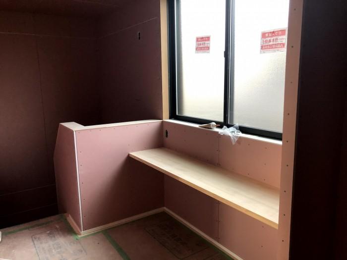 2Fの造作カウンターです 郡山市久留米 |郡山市 新築住宅 大原工務店のブログ