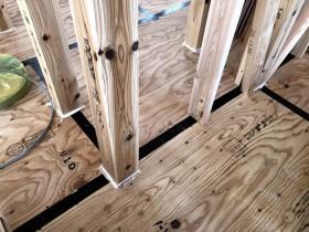 床の気密処理です。|郡山市 新築住宅 大原工務店のブログ