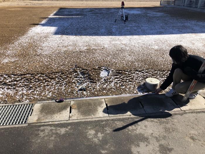 桝の距離も測ります。  郡山市 新築住宅 大原工務店のブログ