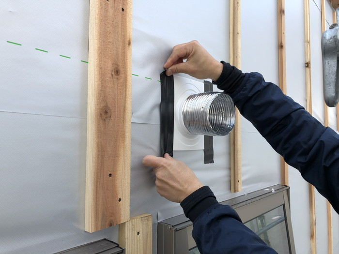 ドームパッキンの防水処理です。|郡山市 新築住宅 大原工務店のブログ
