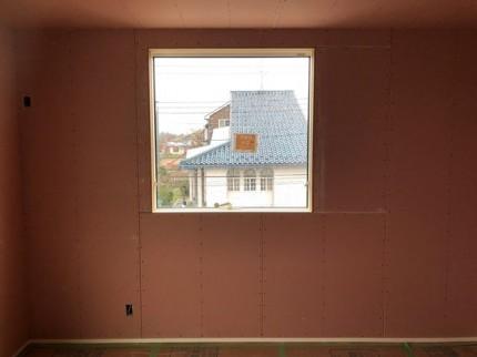 石膏ボードの仕上がりです。|郡山市 新築住宅 大原工務店のブログ