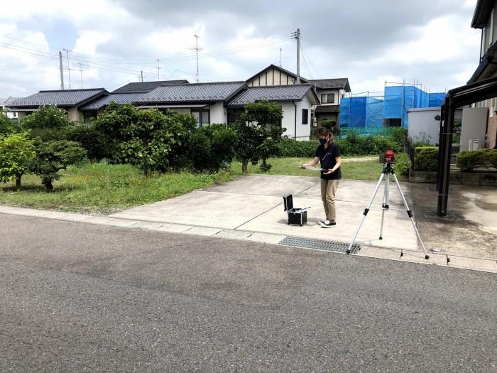 新築注文住宅の敷地調査を行いました。 郡山市富田町