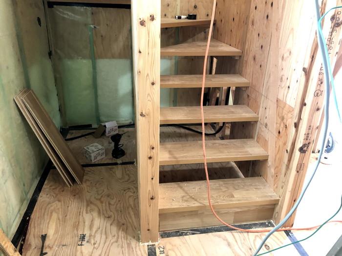 階段の造作です。 郡山市 新築住宅 大原工務店のブログ