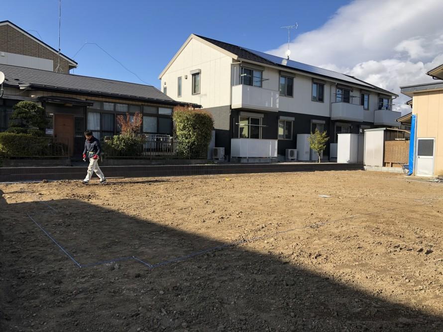 地縄を張っていきます。郡山市開成| 郡山市 新築住宅 大原工務店のブログ