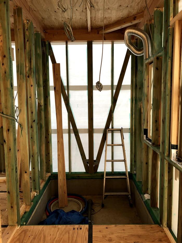 ユニットバス部分の防蟻処理です。|郡山市 新築住宅 大原工務店のブログ