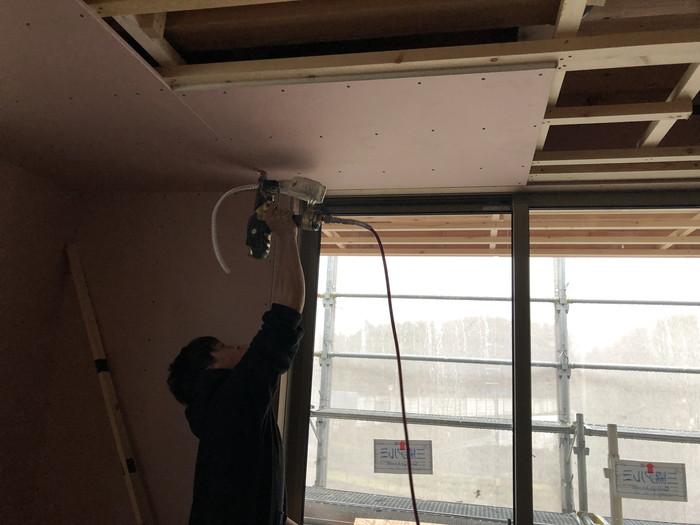石膏ボード張です。|郡山市 新築住宅 大原工務店のブログ