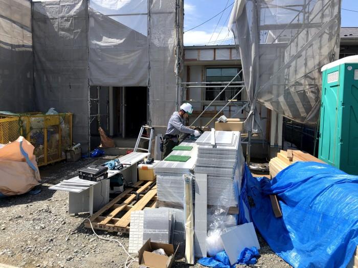 外壁屋さんが、頑張っています。本宮市仁井田| 郡山市 新築住宅 大原工務店のブログ