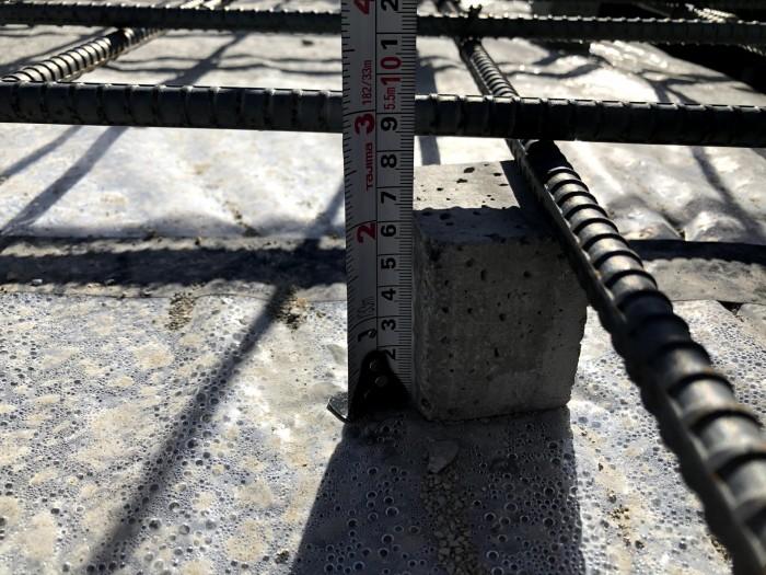 べた基礎のかぶり厚さのチェックです。郡山市安積町| 郡山市 新築住宅 大原工務店のブログ