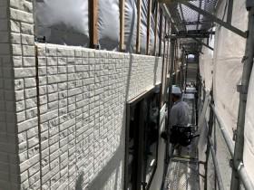 外壁工事中です。本宮市仁井田  郡山市 新築住宅 大原工務店のブログ