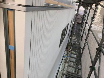 外壁を貼ると、こんな感じです。郡山市昭和| 郡山市 新築住宅 大原工務店のブログ