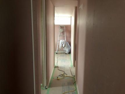 石膏ボード貼ってます。郡山市昭和| 郡山市 新築住宅 大原工務店のブログ