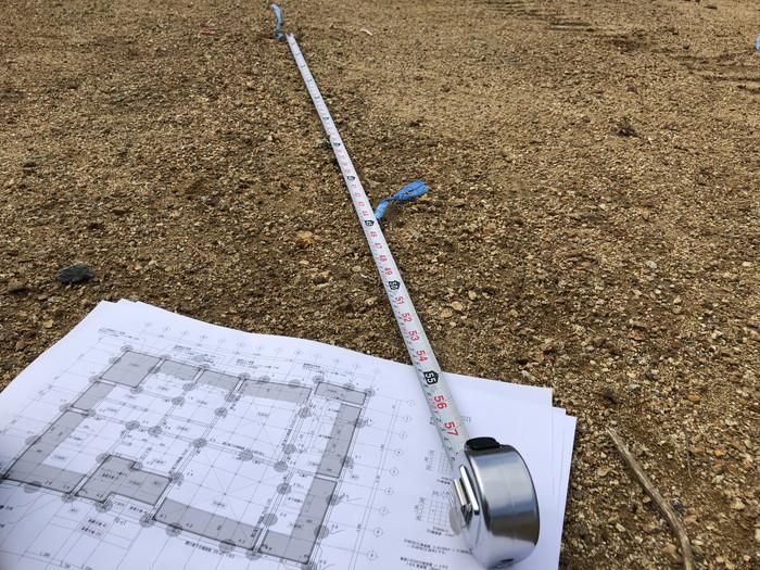杭の位置の確認です。|郡山市 新築住宅 大原工務店のブログ