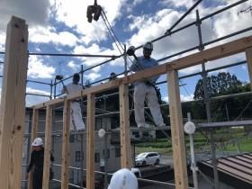 晴天の中の上棟でした★ 郡山市 新築住宅 大原工務店のブログ