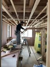 船引町W様邸新築工事の天井の下地施工 | 郡山市 新築住宅 大原工務店のブログ