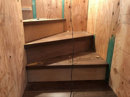 新築の階段仕上がりです。|郡山市 新築住宅 大原工務店のブログ