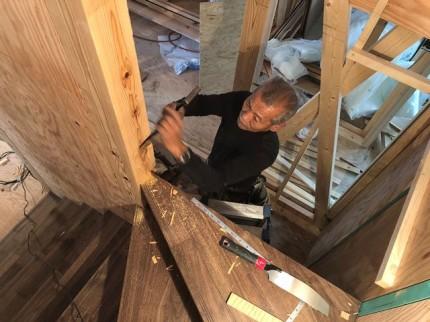 新築の周り階段の施工です。|郡山市 新築住宅 大原工務店のブログ
