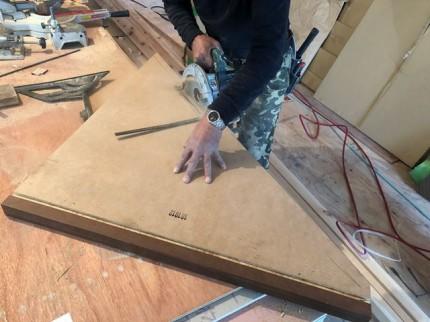 新築の周り階段の加工です。|郡山市 新築住宅 大原工務店のブログ