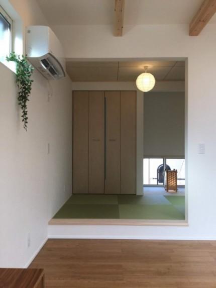 リビングに、小上がり和室があります。郡山市富久山町| 郡山市 新築住宅 大原工務店のブログ