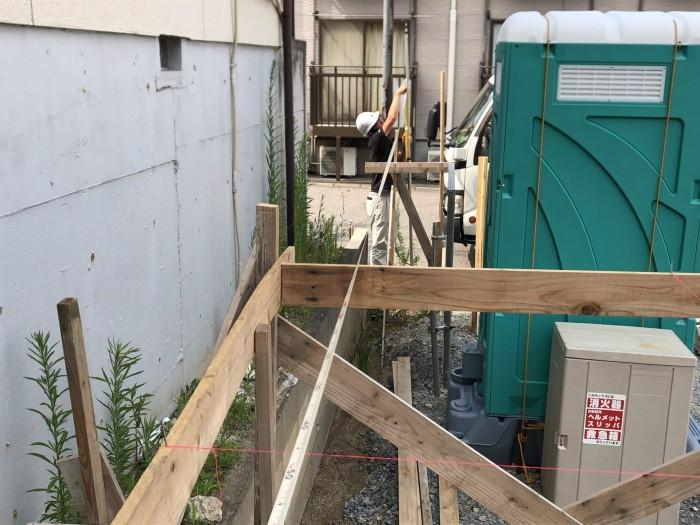 総スパンを測っていきます。郡山市菜根| 郡山市 新築住宅 大原工務店のブログ