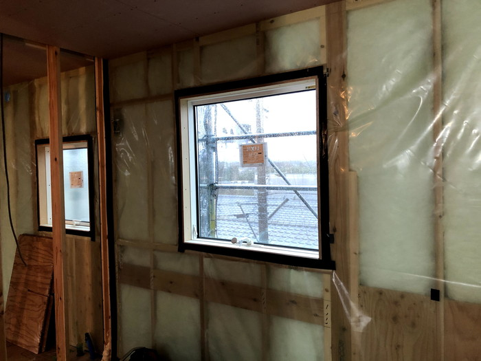 気密処理をした状態です。|郡山市 新築住宅 大原工務店のブログ