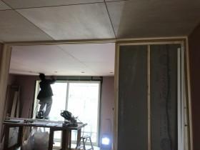 窓うえ石膏ボードを貼ってます。郡山市御前南| 郡山市 新築住宅 大原工務店のブログ