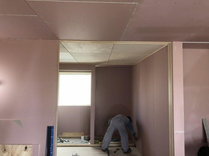 和室の仕上げ中です。郡山市御前南| 郡山市 新築住宅 大原工務店のブログ