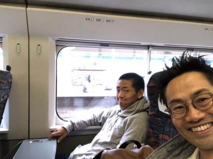 息子と新幹線です。