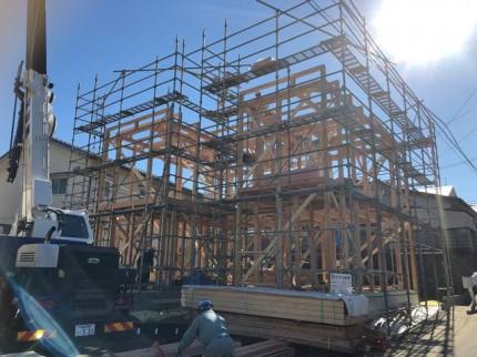 新築住宅の上棟です。 郡山市 新築住宅 大原工務店のブログ