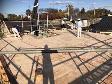 新築屋根の下地です。|郡山市 新築住宅 大原工務店のブログ