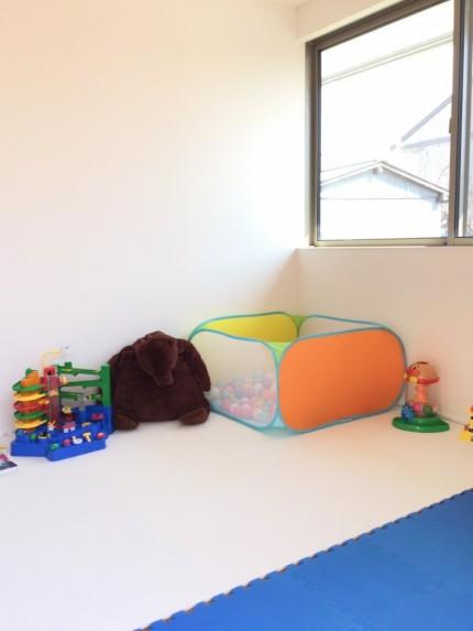 キッズスペースのおもちゃもセット完了です。郡山市安積町|郡山市 新築住宅 大原工務店のブログ