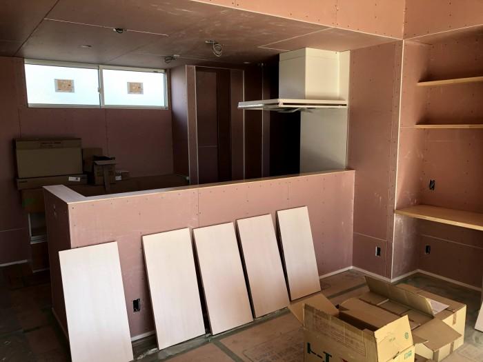 キッチンの様子です。郡山市富久山町  郡山市 新築住宅 大原工務店のブログ