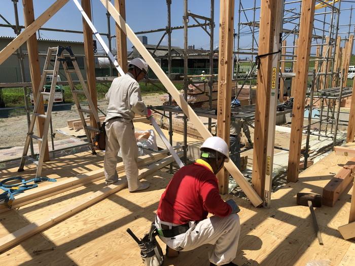 屋直しの工程です。 郡山市 新築住宅 大原工務店のブログ