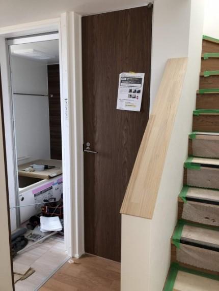 扉の設置完了です。|郡山市 新築住宅 大原工務店のブログ