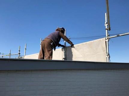新築工事の足場撤去です。|郡山市 新築住宅 大原工務店のブログ
