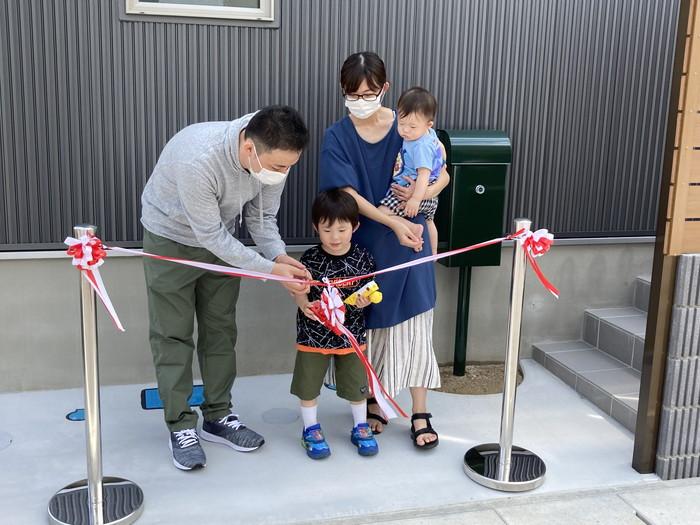 テープカットの様子です。郡山市喜久田町| 郡山市 新築住宅 大原工務店のブログ