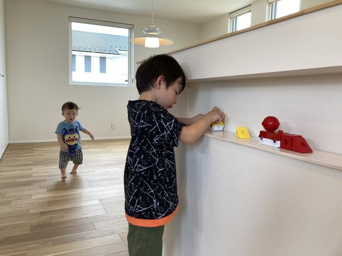 早速お子様が遊んでいる様子です。郡山市喜久田町| 郡山市 新築住宅 大原工務店のブログ