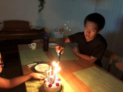 圭太郎の15歳のお誕生日です。