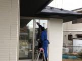 新築の窓ガラス拭きです。|郡山市 新築住宅 大原工務店のブログ
