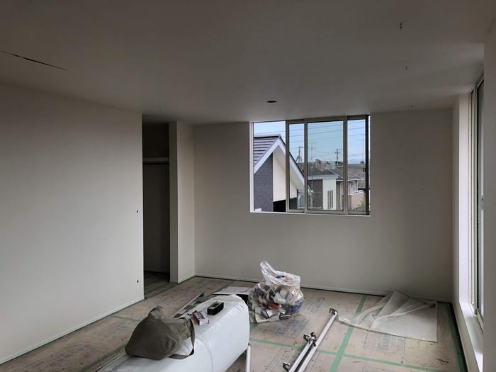 クロス工事完了です。|郡山市 新築住宅 大原工務店のブログ