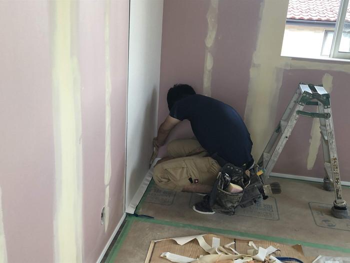 クロス張りです。|郡山市 新築住宅 大原工務店のブログ