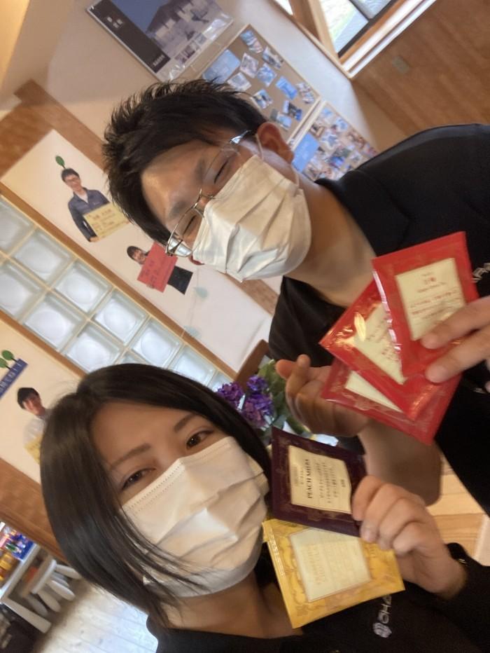 F様から、オシャレな紅茶の差し入れを頂きました。郡山市喜久田町| 郡山市 新築住宅 大原工務店のブログ