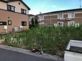 草刈前の富田町の宅地です。